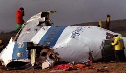 Wreckage of Pan Am Flight 103 in Lockerbie, Scotland. (Photo by AP)
