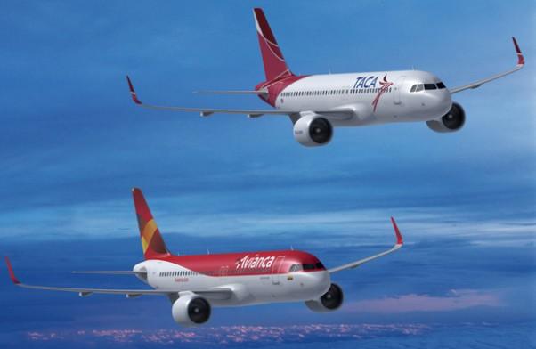 Avianca and Taca A320s.