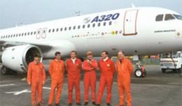 Airbus A320 first flight team