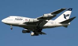 An Iran Air Boeing 747SP. (Photo by Tom Alfano)