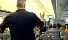 Nightline follows a mock police raid at Miami International Airport. (Screenshot)