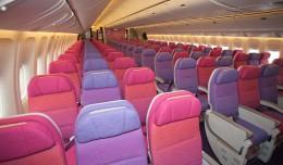 Purple haze onboard Thai Airways Boeing 777-300ER. (Photo by Liem Bahneman/NYCAviation)