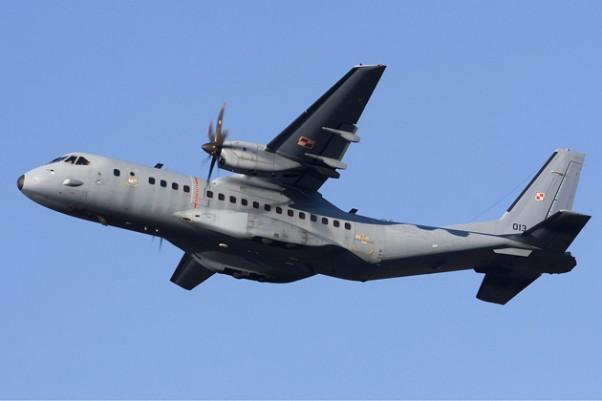 A Polish Air Force EADS CASA C-295, the same model as the downed Algerian Air Force plane. (Photo by Chris Lofting via wikimedia)