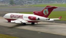 Kingfisher Airlines Boeing 727 (N727VJ) at Mumbai. (Photo by Sean d'Silva via wikimedia)